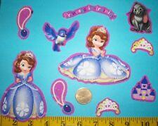New! Cool! Disney's Princess Sofia IRON-ONS FABRIC APPLIQUES IRON-ONS