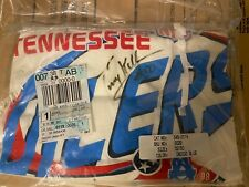 vtg 90s TENNESSEE OILERS NFL FOOTBALL T Shirt Autographed