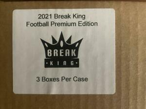 2021 Break King Football Premium Edition Factory Sealed 3 Box Case