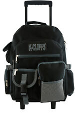 Rolling Backpack Heavy Duty School Bag with Wheels Deluxe Multiple Pockets Black