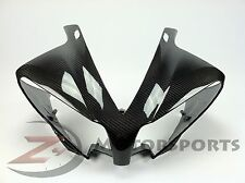 2012-2014 Yamaha R1 Upper Front Nose Headlight Panel Fairing Cowl Carbon Fiber