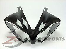 2012-2014 Yamaha R1 Upper Front Nose Headlight Fairing Cowl 100% Carbon Fiber