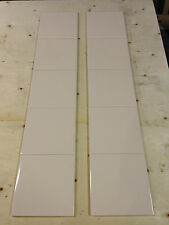 10 CREAM / IVORY FIREPLACE TILES - VICTORIAN / EDWARDIAN / REPLACEMENT TILE.