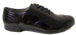 Geox Plie Patent Girls School Shoes