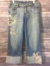 Sportalm Kitzbuhel Women's Embellished Capri Jeans Size 38 Light Wash