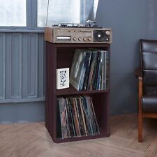 2-Shelf Vinyl Record Storage Cube - LP Record Album Storage Shelf, Espresso