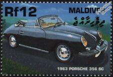 1963 Porsche 356 SC (modelo C) Menta sello del automóvil coche deportivo (2000) Maldivas