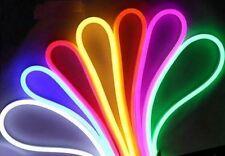 """Colore LED NEON FLEX Corda Cavo 25m ROTOLO """"può essere tagliato"""" facile installazione"""
