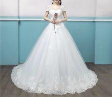 Womens Applique Wedding Dress off shoulder Gown UK SELLER fits sizes UK 10/12