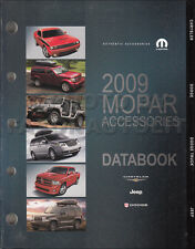 2009 Dodge Accessory Data Book Viper Challenger Charger Ram Truck Durango Dakota