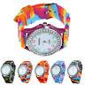 Women's Silicone Band Crystal Bling Analog Digital Quartz Wrist Watch