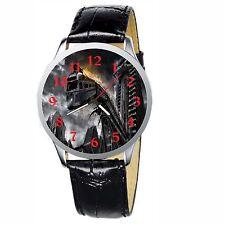 Train Crashing Stainless Wristwatch Wrist Watch