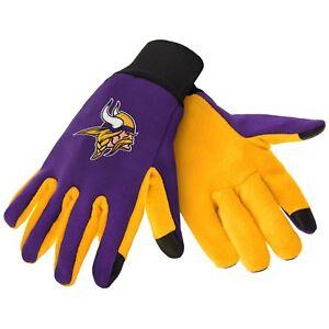 Minnesota Vikings NFL Team Football Texting Tech Gloves Officially Licensed NEW