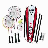 Badminton Spielset Kinderschläger Erwachsenen Schläger Netz Ball Spiel Freizeit