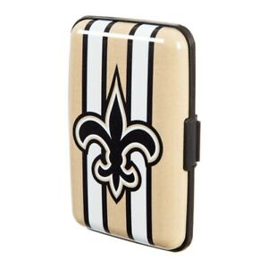 New Orleans Saints Hard Case Wallet Card Holder - Authentic NFL Product