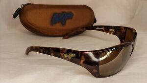 Maui Jim Canoes Sunglasses MJ-208-10 65 18 128 Made In Japan With Case