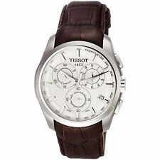 New Tissot Couturier Brown Leather Watch T0356171603100 Boxed & 2 Year Warranty