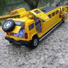 Hummer H6 MPV7 1:32 Model Cars Alloy Diecast Sound&Light 5-door sunroof Yellow