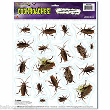 Halloween Horror COCKROACHES Scene Setter Prop Wall Stickers Decorations