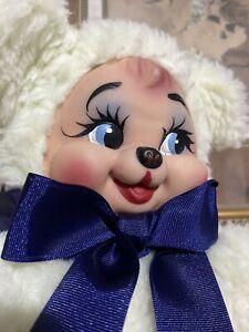 "Vintage Rubber Face Plush Bear 11"""