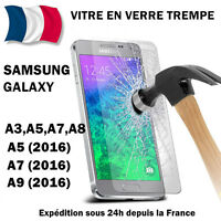 film vitre verre trempé protection Samsung Galaxy A3,A5,J3,J5,(2017),Prime,S6,S5
