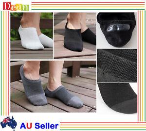 6Prs Men Mens Bamboo Invisible Low Cut No-Slip Heel Grip No Show Socks size 6-11