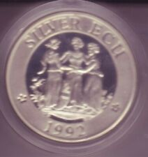 ECU Großbritannien, X208b.1, 46 Gr., Piefort, Silber 925, m. Beizeichen, 38 mm