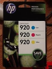 HP OfficeJet Printer 920 COLOR Combo Pack Ink 6000 6500 6500A 7000 7500 7500A NW
