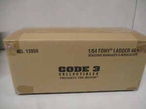 Code 3 FDNY Ladder 46 Seagrave Marauder II Aerialscope 1/64