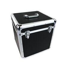 "NEW! 100 x 12"" LP Vinyl Record Box Hard DJ Flight Case Aluminium"