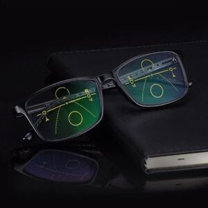 Progressive Transition Reading Glasses Flexible Sunglasses UV400
