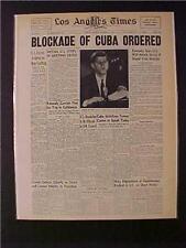 VINTAGE NEWSPAPER HEADLINES ~JFK PRESIDENT KENNDEY SOVIET CUBA MISSILE CRISIS~