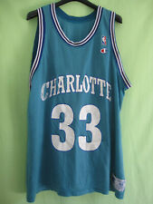 Maillot Basket charlotte Hornet Mourning #33 Champion Jersey Vintage Shirt - 48