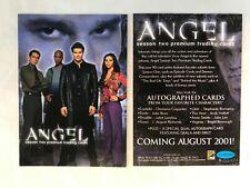 CHEAP PROMO CARD: Angel Season 2 Inkworks 2001 #A2-SD2001 ONE SHIP FEE PER ORDER