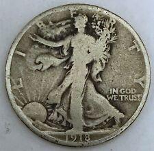 ** 1918 Walking Liberty Silver Half Dollar FREE SHIPPING!