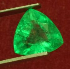 11.5x11.3mm (5.25cts) TRILLIANT-FACET CERTIFIED NATURAL (GGL) COLOMBIAN EMERALD