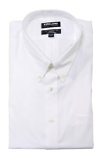 Kirkland Signature Traditional Fit Button Down Collar Dress Shirt White Pick Siz