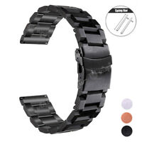 18 20 22mm Wrist Strap For Fossil Watch Band Stainless Steel Bangle Bracelet Men