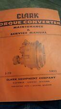 Clark Equipment Industrial Converter Service Manual