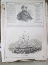 Vintage Print,CLIPPER SHIP,Syron,Gleasons,1851