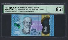Costa Rica 2000 Colones ND(2020) P281a Uncirculated Grade 65