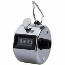 Tally 4 Digit Palm Counters Counter Hand Clicker Manual Handy Mechanical Chrome