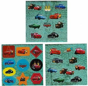 Stickers Disney Pixar CARS 🚗🏎 Lightning McQueen Doc Hudson Sally Carrera #SQ01