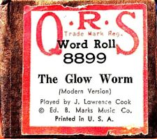 QRS Word Roll THE GLOW WORM J. Lawrence Cook 8899 Original Player Piano Roll