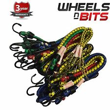 24x Heavy Duty BUNGEE STRAPS LUGGAGE ELASTIC HOOK CORDS SUITCASE RUCKSACK BAG
