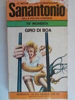 Giro di boaSanantonio Mondadori1976inchieste del commissario sana' parigi 81
