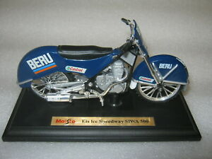 Eis- Speedway Motorrad Jawa Siwa 1:18 Sammlermodell NEU Maisto Rennmotorrad n.GM