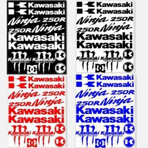 Motorcycle Emblem Decals for Kawasaki Ninja 250 250R Reflective Racing Stickers