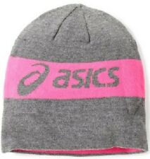 ASICS PR Thermal 2 in1 Beanie Pink Grey Winter Pull Over Hat One Size Fits All