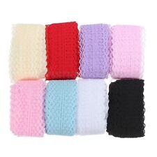 10 Yard Cinta Arte Encaje Recortar Boda Lace Ribbon Trim Craft Decorativa DIY